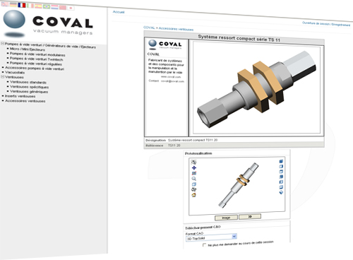 COVAL called on TraceParts to create and upload all the 3D models in its product catalog