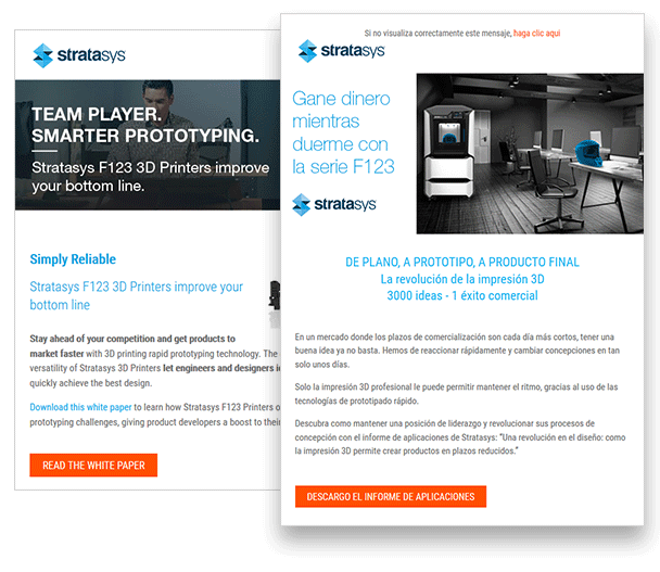 Stratasys used email campaign to generate high qualified leads with TraceParts