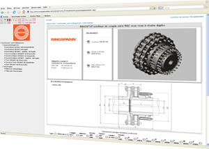 Siam Ringspann CAD library for transmission, assembly, clamping and control elements