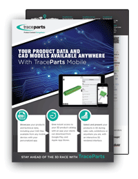 TraceParts Mobile App brochure