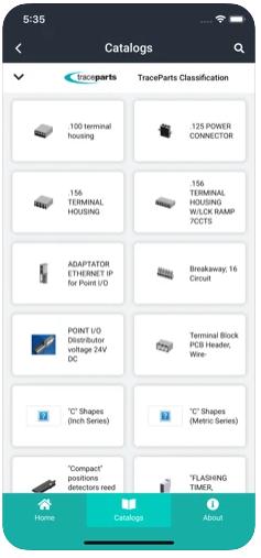 TraceParts classification - List of catalogs - TraceParts mobile